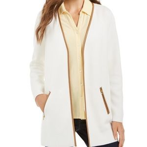 Charter Club Petite Milano Open Front Cardigan, PM